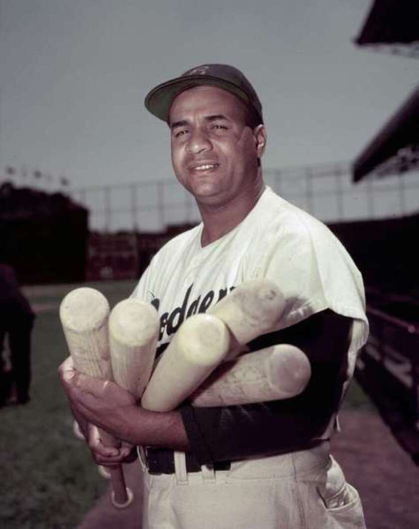 Roy Campanella with the Dodgers in 1952.