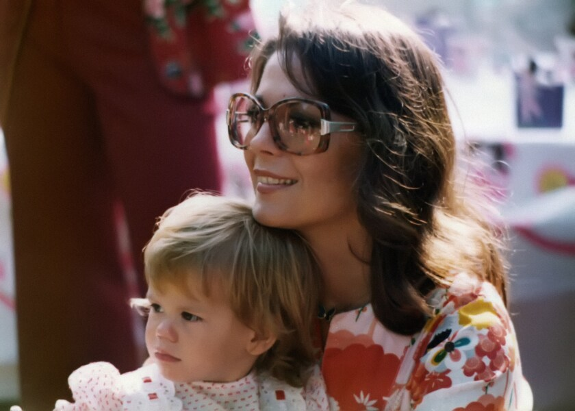 "A photograph featured in ""Natalie Wood: What Remains Behind."" Natalie Wood and her daughter, Courtney Wagner, at Natasha's 5th Birthday Party (1975)."