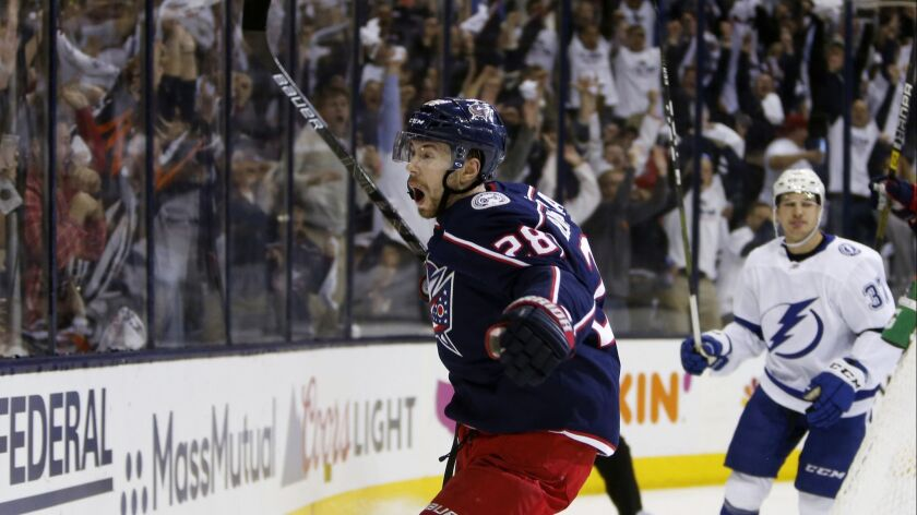6d5e3203f NHL playoffs: Blue Jackets and Islanders complete sweeps; Vegas ...