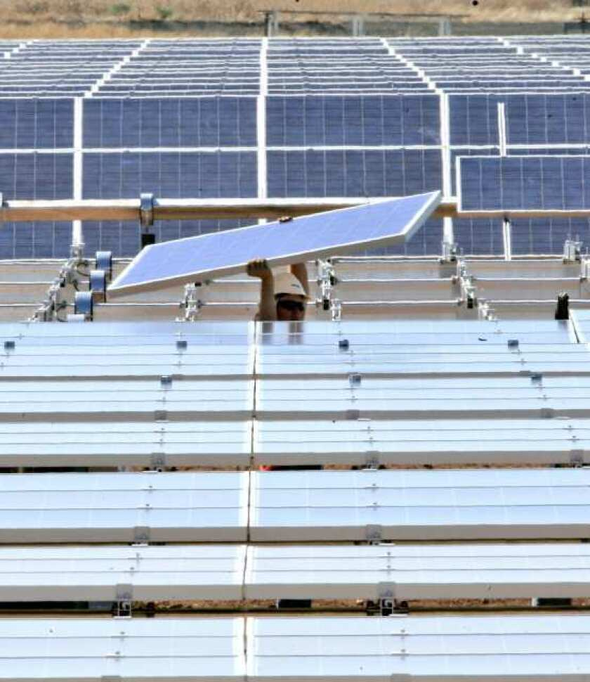 The Environment America Research and Policy Center names California as a leader in solar energy.