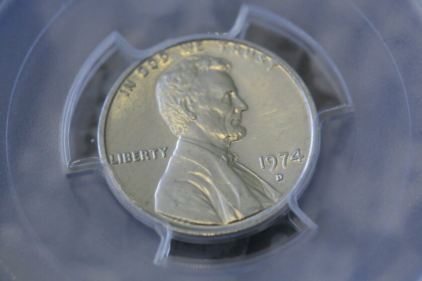 Randy Lawrence inherited this rare 1974-D penny made from aluminum. The rare penny was returned back to the U.S. Treasury Department Thursday afternoon.