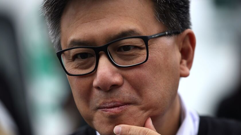 """State Treasurer John Chiang has described himself on the campaign trail as a """"tough, strong fiscal w"""