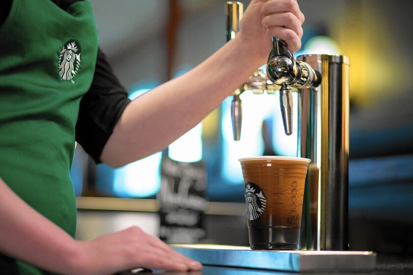 Starbucks Bets On Nitrogen Infused Cold Brew Coffee Los