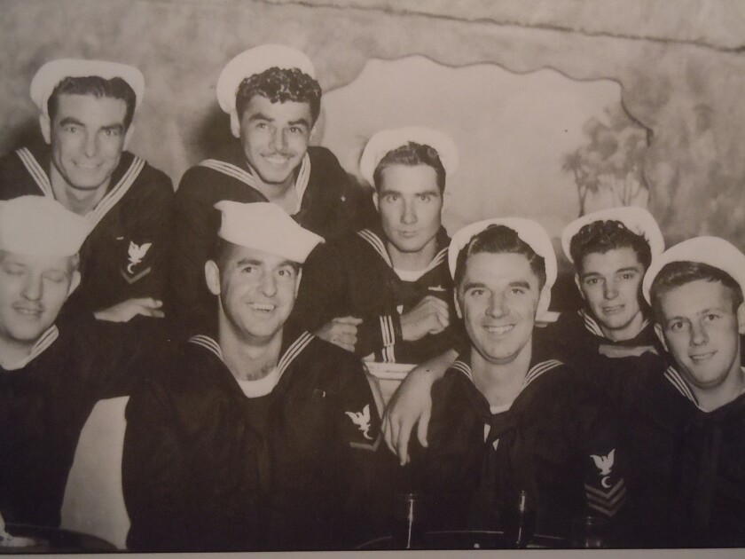 Cooks and bakers aboard the USS Indianapolis. From the book 'Indianapolis: The True Story of the Wo