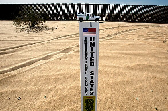 double-sided plastic boundary sign