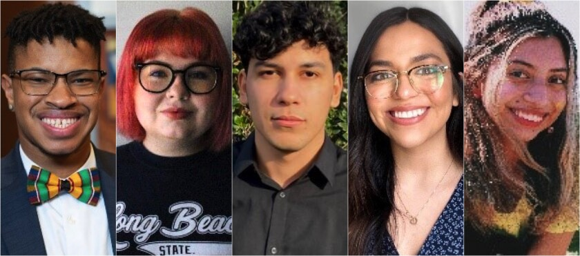 Ethan Sands, Madalyn Amato, Orlando Mayorquin, Laura Anaya-Morga and Angie Orellana Hernandez