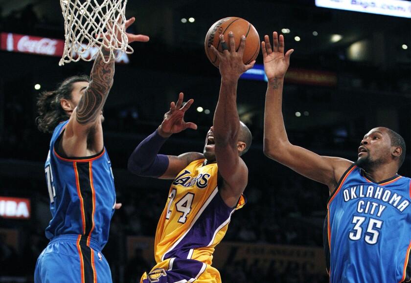 Steven Adams, Kobe Bryant, Kevin Durant