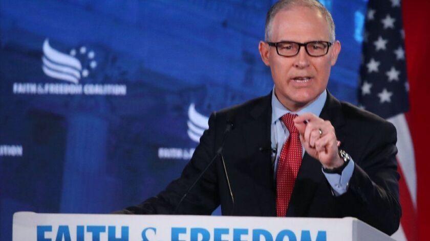 EPA Administrator Scott Pruitt Addresses Faith And Freedom Coalition Conf.