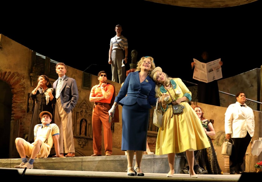 """A scene from L.A. Opera's """"The Light in the Piazza."""""""