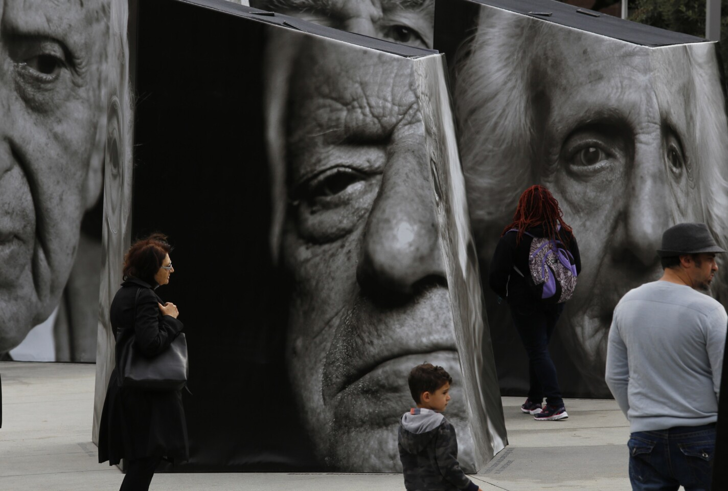 """An interactive art project called """"iwitness,"""" telling the story of survivors of the Armenian genocide of 1915, was unveiled in Grand Park in downtown Los Angeles on Saturday afternoon."""