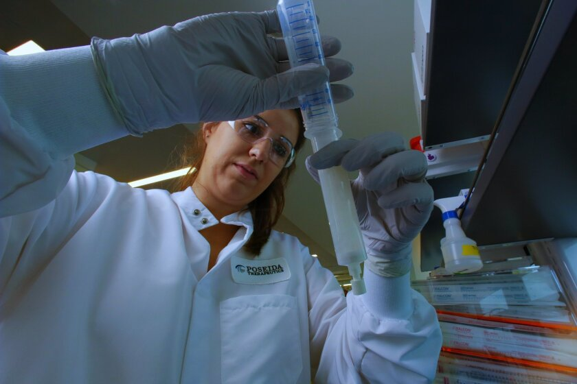 Research technician Rebecca Codde at Poseida Therapeutics.