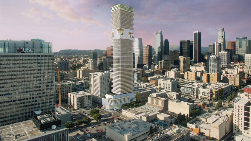Real estate developer Crescent Heights has filed a proposal with Los Angeles officials to develop a