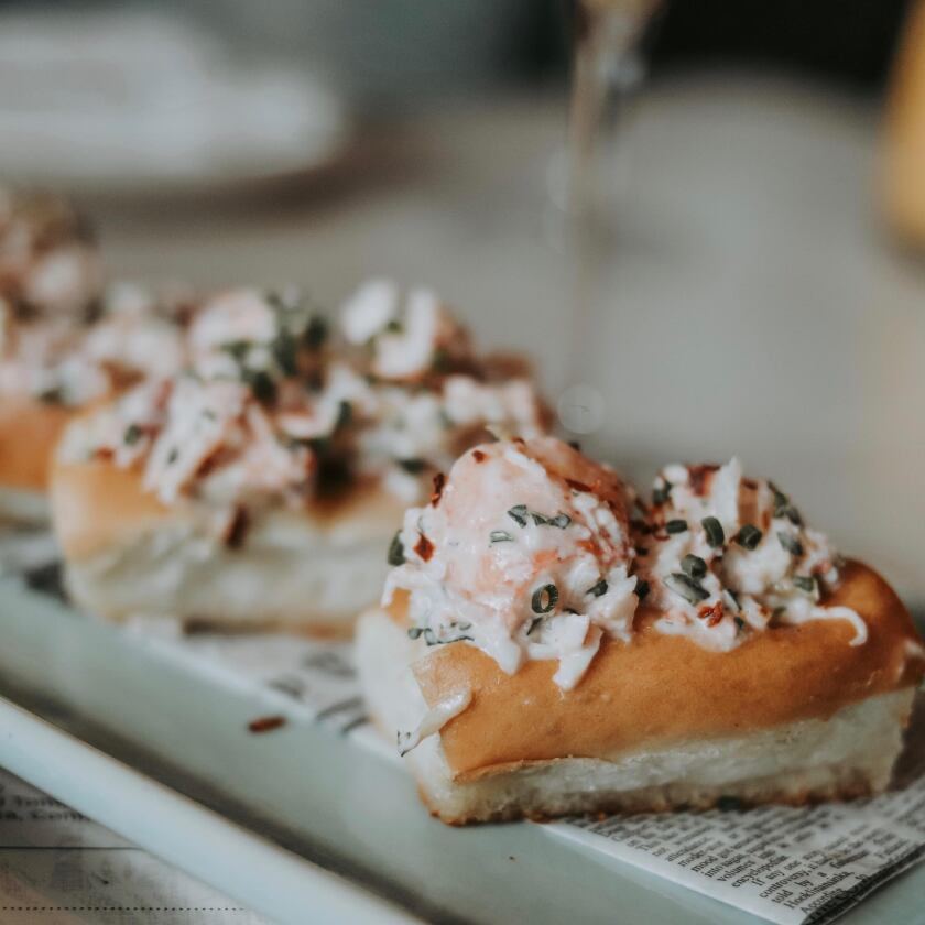 Lobster roll sliders at Lionfish's new Sunday brunch.