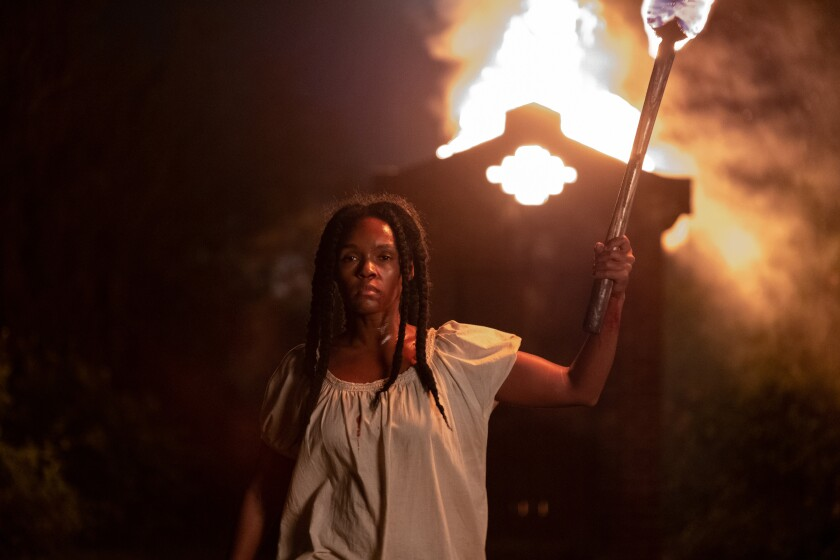 """Janelle Monáe in a scene from """"Antebellum."""""""