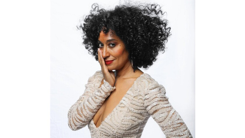 """Tracee Ellis Ross, star of """"Black-ish"""" and daughter of Diana Ross, says she wants to look like her mom."""