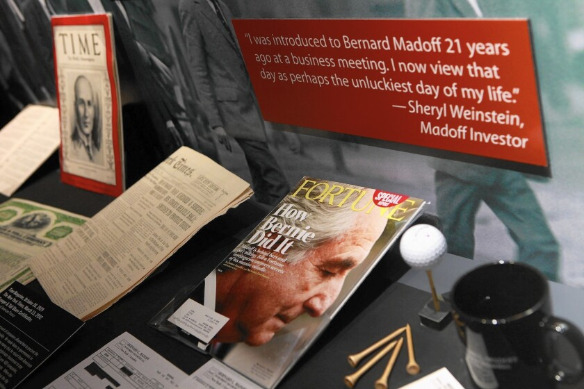 Those who trusted Ponzi schemer Bernie Madoff were blinded by a desire not to be left out of a good thing. Above, a Museum of American Finance exhibit.