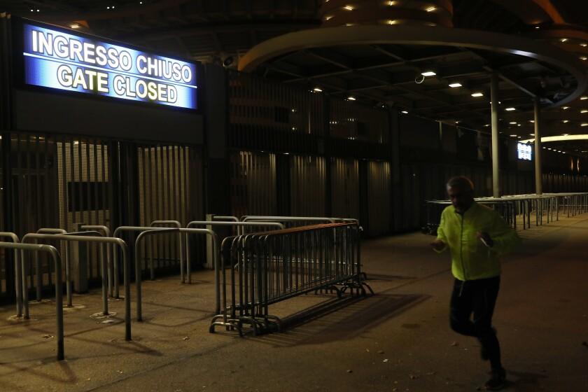 San Siro Stadium closed