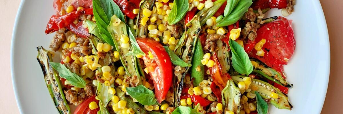 Okra and corn salad.