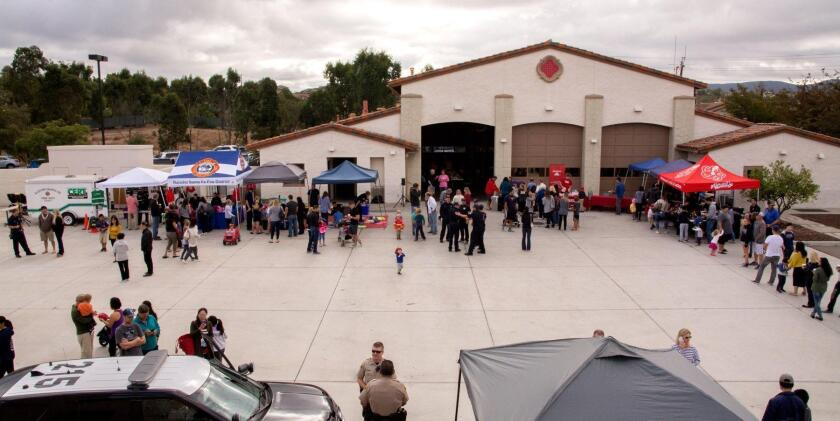 The Rancho Santa Fe Fire Protection District has held several open houses at its Fire Station No. 2 in 4S Ranch.