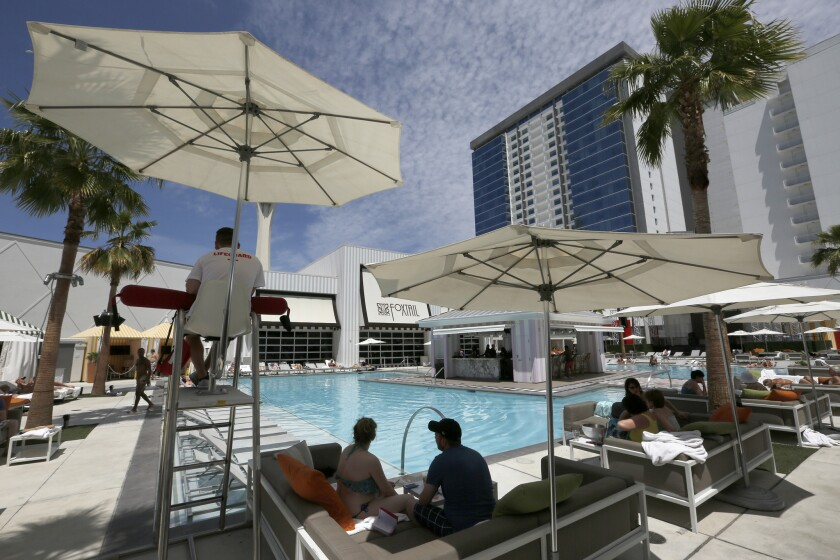 #MyVegasStory guests receive 2-for-1 drinks in the morning at Foxtail Pool at SLS Las Vegas.