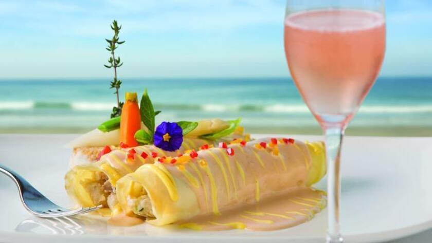 The Marine Room's Seafood Crepes, available this Easter Sunday with brunch. (Courtesy photo)