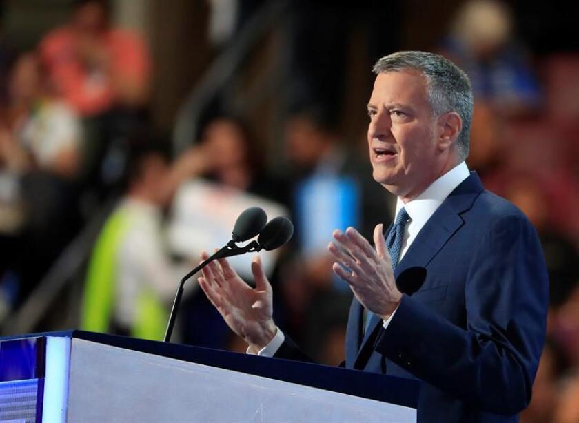 """El alcalde de Nueva York, Bill de Blasio, aseguró hoy que la tragedia que costó la vida de dos niñas en El Bronx fue algo """"insólito y sin precedentes"""" y prometió que las agencias están trabajando para saber qué ocurrió. EFE/ARCHIVO"""