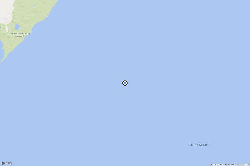 Earthquake: 6.1 quake strikes near Ozernovskiy, Russia - Los ... on russia japan map, russia flood map, russia pollution map, russia weather map, russia volcano map, russia environment map, russia 1941 map, russia airport map, russia wildfires map, russia meteor map,