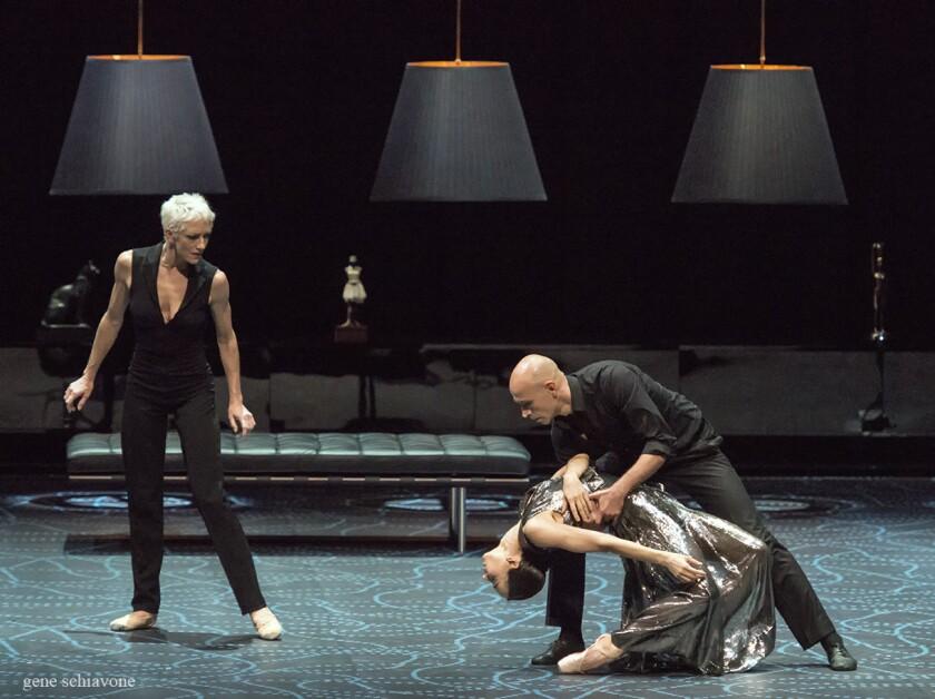 """With Bernice Coppieters watching, Diana Vishneva dances with Gaetan Morlotti in """"Switch."""""""