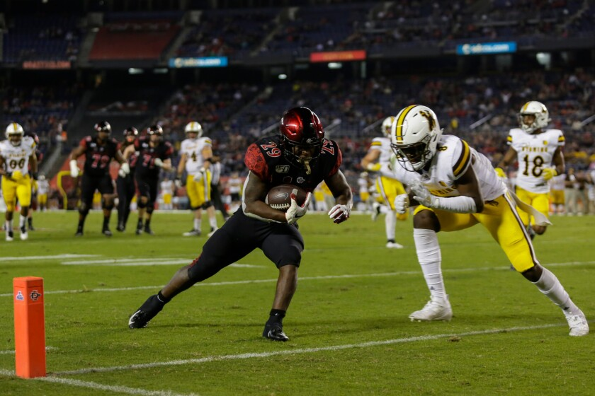 Aztecs running back Juwan Washington was back to his old self against Wyoming on Saturday night.