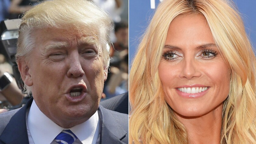 """Donald Trump doesn't think Heidi Klum is a """"10"""" anymore. She's not taking it too hard."""