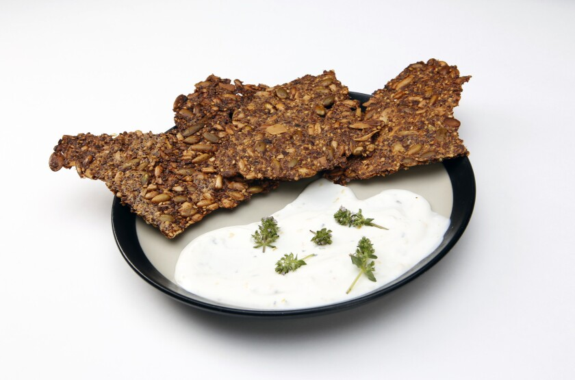 Seeded crackers and cheese from Leona.