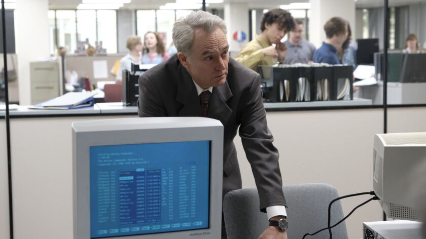 "Bradley Whitford as Netscape pioneer James Barksdale in National Geographic's ""Valley of the Boom."""