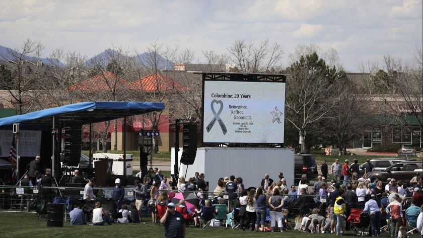 Remembrance Ceremony Marks 20th Anniversary Of Deadly Columbine School Shooting