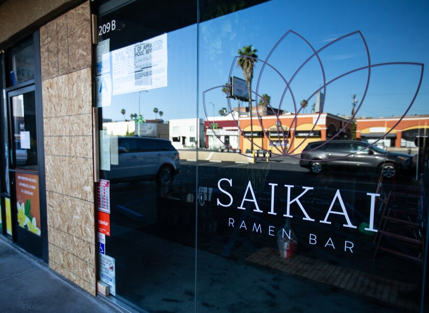 Saikai Ramen Bar was broken into shortly after closing down due to the pandemic.