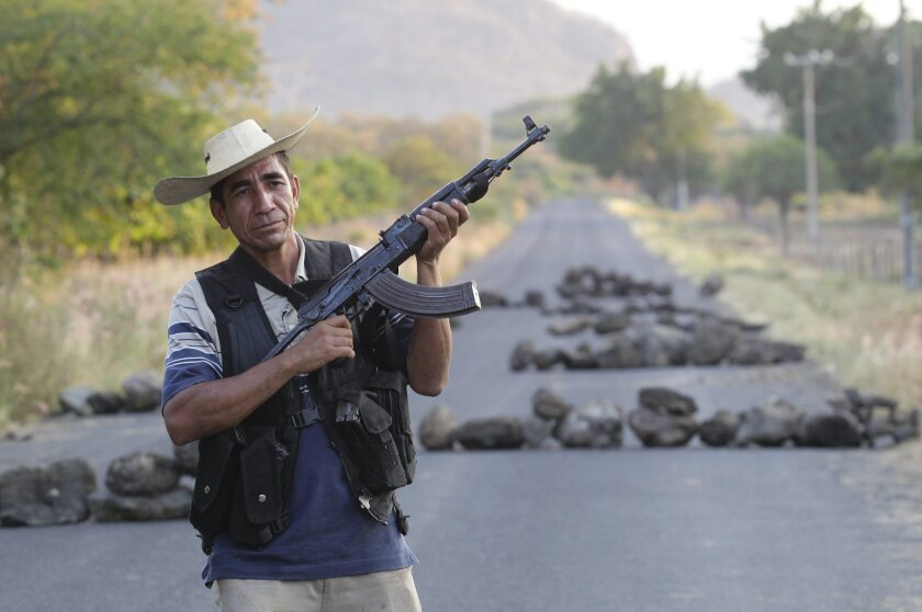 "Vigilante ""self-defense"" groups in the Mexican state of Michoacan"