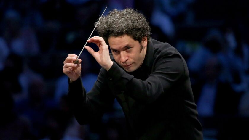 Gustavo Dudamel conducts a Wagner opera program at the Hollywood Bowl on July 20.