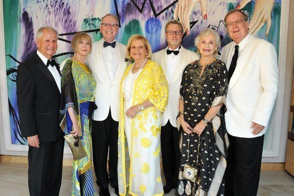 Dr. Michael Grossman and Margaret Stevens Grossman (she's gala chair), Irwin and Joan Jacobs (gala hosts), Christopher Beach (LJMS president and artistic director), Peggy and Peter Preuss (she's SummerFest chair)