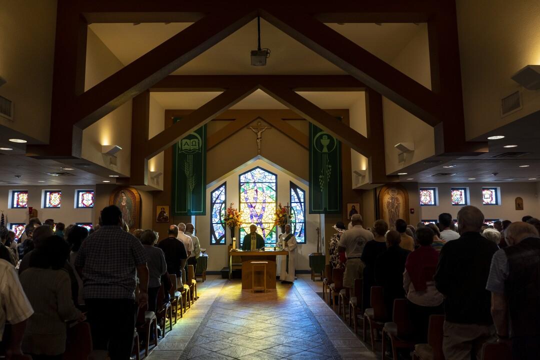 Mass at St. John the Baptist Catholic Church