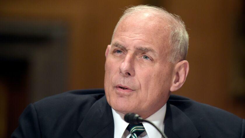 Homeland Security Secretary John F. Kelly.