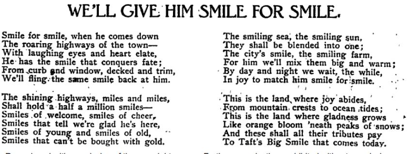 Taft poem