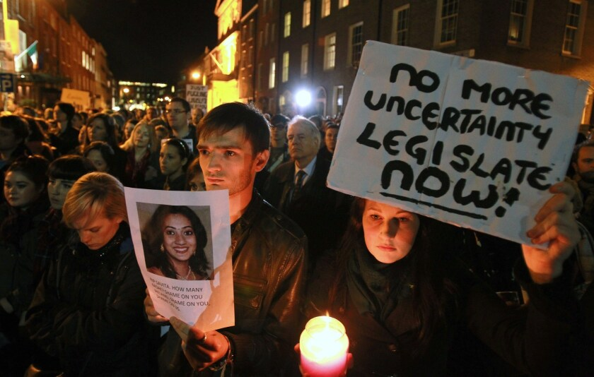 Ireland to seek change in abortion law after woman's death