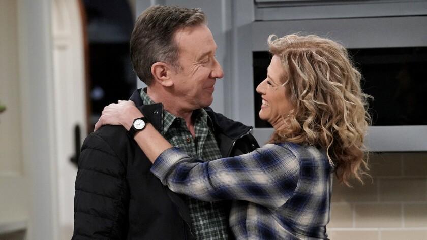 "Tim Allen and Nancy Travis in ""Last Man Standing"" on Fox."