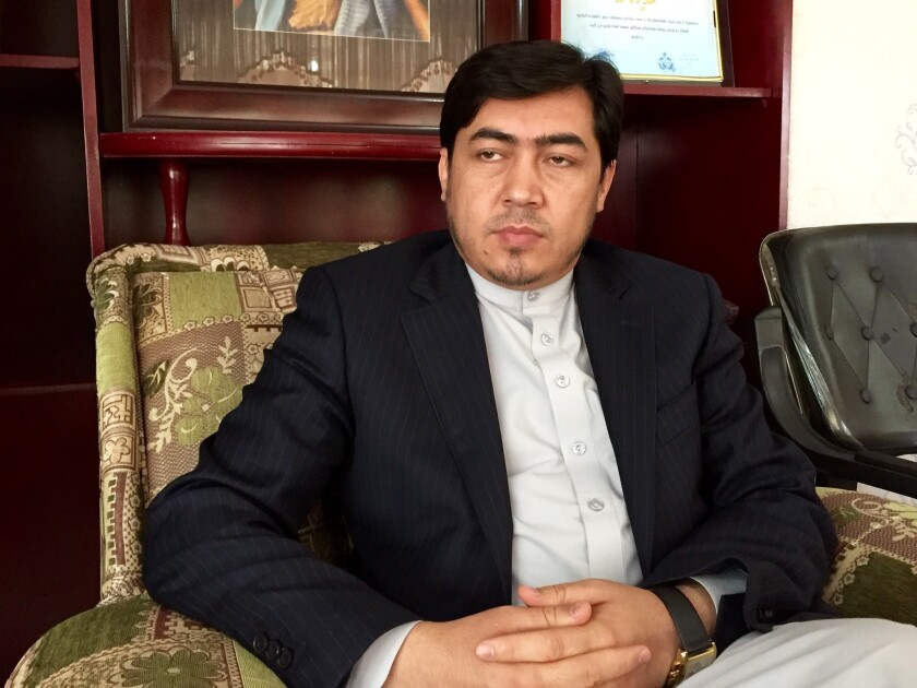 Jaffer Mahdavi, a lawmaker and Hazara protest leader, at his office in Kabul.