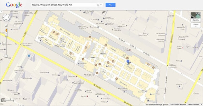 Google is bringing indoor layouts to the Web version of Google Maps.
