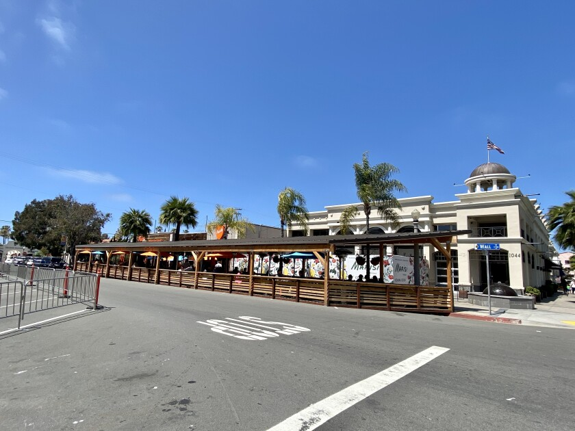 Puesto La Jolla has applied for a placemaking pedestrian plaza for five years.