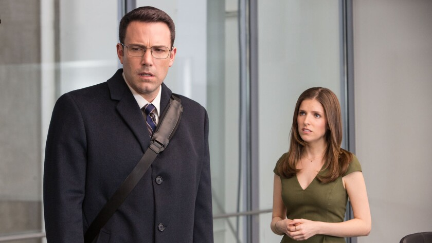 """Ben Affleck and Ana Kendrick in the movie """"The Accountant."""""""