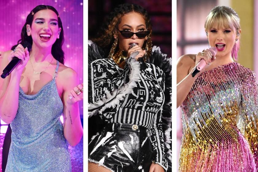 Beyonce, Dua Lipa y Taylor Swift entre las más nominadas