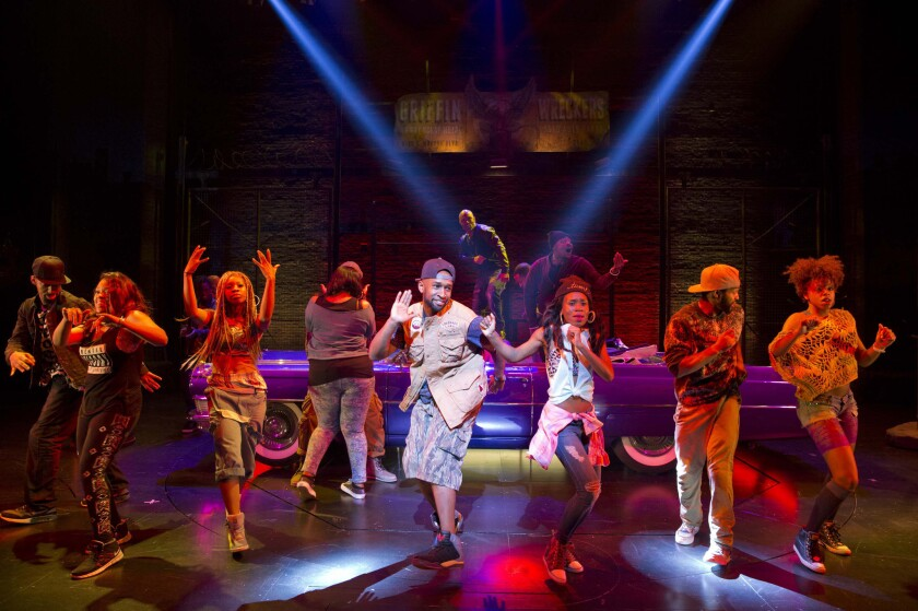 """A scene from """"Holler If Ya Hear Me,"""" at the Palace Theatre in New York."""