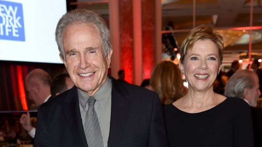 Warren Beatty, left, and Annette Bening attend the 16th annual AARP Movies for Grownups Awards at the Beverly Wilshire Hotel in Beverly Hills on Feb. 6.
