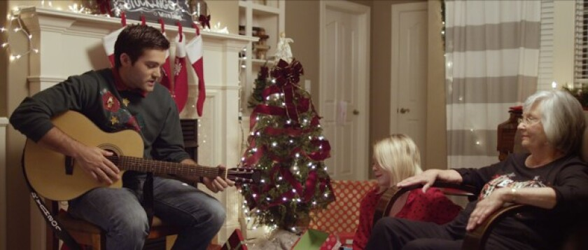 """Reiley McClendon (left) and Bonnie Johnson star in """"Christmas in July."""""""